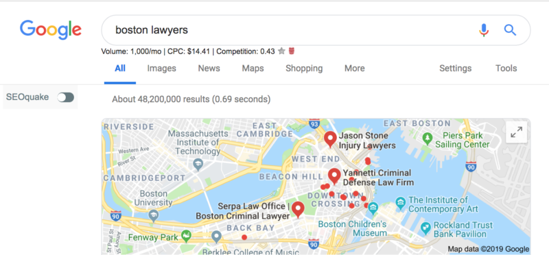 Boston Lawyers Keyword Local SEO MA
